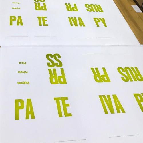 Boekbinderij Papyrus typografie